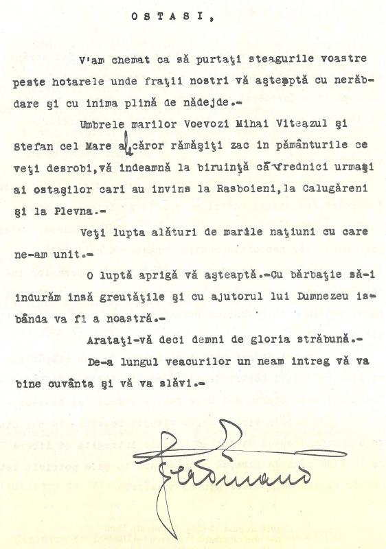 România-Documentele Unirii 1918